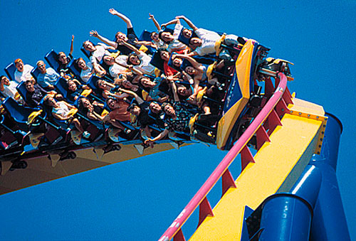 Person On Roller Coaster